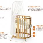 優木まおみサンちの赤ちゃんベッドはどこの?天蓋付き素敵なベビーベットはコチラ>>【STOKKE(ストッケ)/スリーピーベッドセット (ミニ付き)ナチュラル】