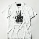 HERO衣装>>木村拓哉サン着用【David Lindwall (デイビッドリンドウォール)/『LIE STOPS HERE』Tシャツ】キムタク人気はスゴい!『LIE STOPS HERE』の意味は?