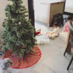 優木まおみサンちのクリスマスツリー>>ツリーの下を覆うカバーの名前知ってる??