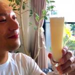 海老蔵さんサプリメント入り朝シャン?>>オリジナル乳酸菌ジュース!グラスがオシャレ!