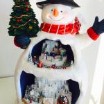 """三喜本惠美さんちの""""クリスマス""""インテリアグッズ>>スノーマンのオルゴール"""